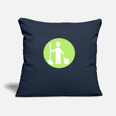 "Cleaning Man Picto man cleaning - Throw Pillow Cover 18"" x 18"""