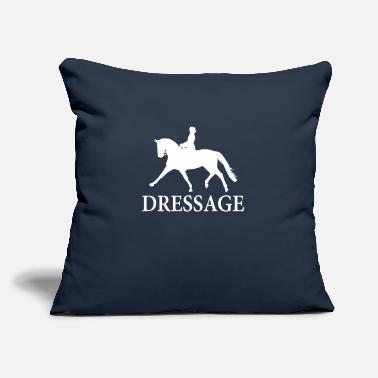 "Dressage Horse Dressage Horse - white - Throw Pillow Cover 18"" x 18"""