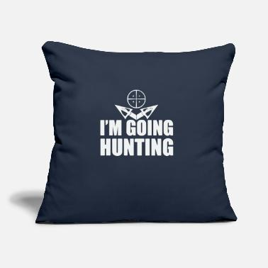 "i m going Hunting - Throw Pillow Cover 18"" x 18"""