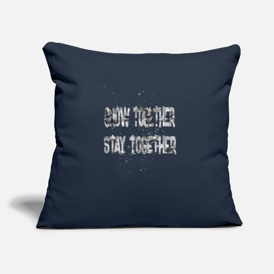 "Birthday Pillow Cases - grow together stay together - Throw Pillow Cover 18"" x 18"" navy"