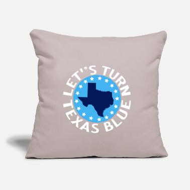 "Let's Turn Texas Blue - Throw Pillow Cover 18"" x 18"""