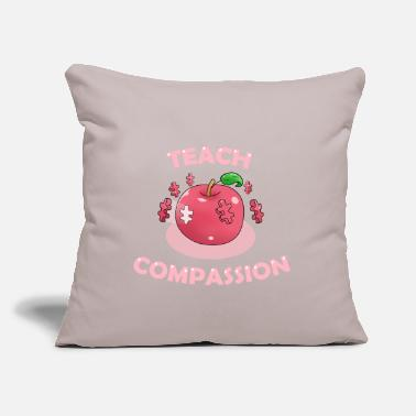 "Awareness Teach Compassion Autism Awareness Puzzle Apple - Throw Pillow Cover 18"" x 18"""