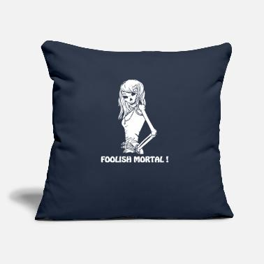 "Foolish FOOLISH MORTAL - Throw Pillow Cover 18"" x 18"""