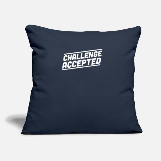 "Music Pillow Cases - Challenge Accepted - Throw Pillow Cover 18"" x 18"" navy"