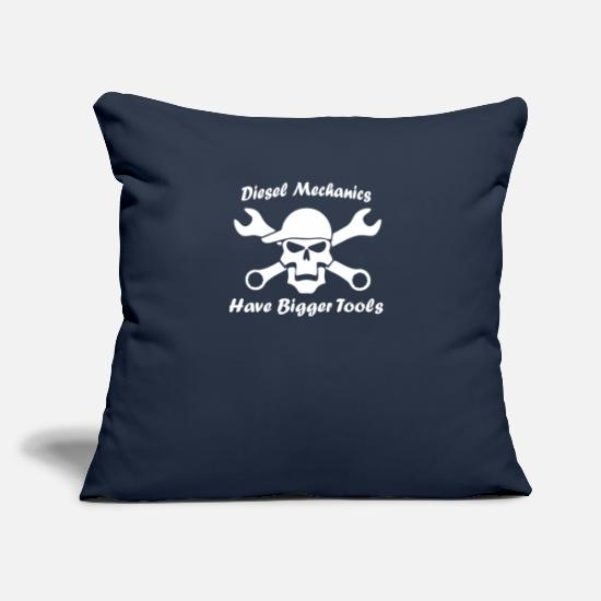 "Diesel Pillow Cases - Diesel Mechanics Tools - Throw Pillow Cover 18"" x 18"" navy"