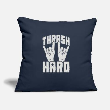 "Thrash THRASH HARD - Throw Pillow Cover 18"" x 18"""