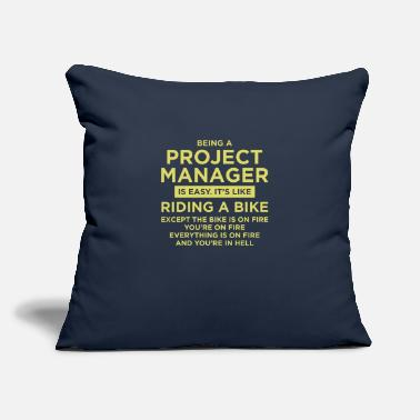 "Property Being A Project Manager - Throw Pillow Cover 18"" x 18"""