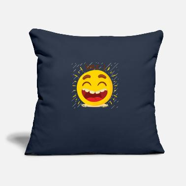 "Laugh Laugh Laugh Happy - Throw Pillow Cover 18"" x 18"""