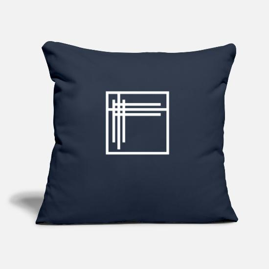"Symbol  Pillow Cases - Abstract art with design forms 17 - Throw Pillow Cover 18"" x 18"" navy"