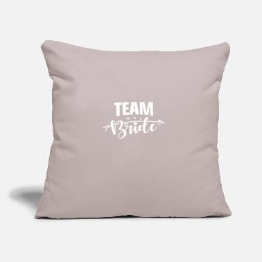 "Bride Team Bride - Throw Pillow Cover 18"" x 18"""