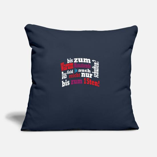 "Gift Idea Pillow Cases - Month half of the month gift no money - Throw Pillow Cover 18"" x 18"" navy"