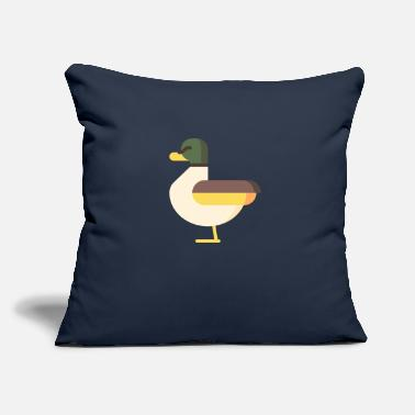 "Graphic Duck Graphic - Throw Pillow Cover 18"" x 18"""