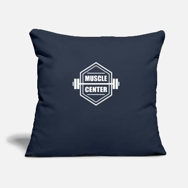 "Fitness Center Muscle Center Fitness - Throw Pillow Cover 18"" x 18"""