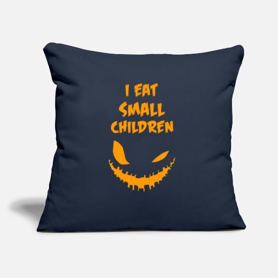 "Funny Pregnancy Pillow Cases - Pregnancy Halloween Costume - Throw Pillow Cover 18"" x 18"" navy"