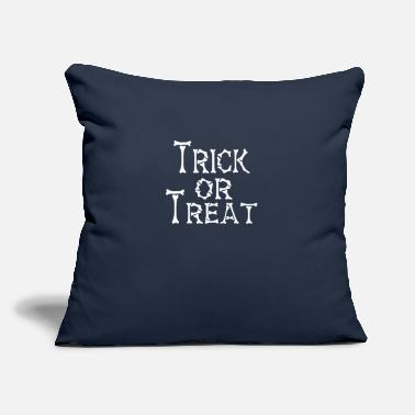 "Treat TRICK OR TREAT - Throw Pillow Cover 18"" x 18"""