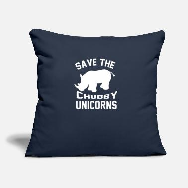 "Save The Chubby Unicorn Save the Chubby Unicorns - Throw Pillow Cover 18"" x 18"""