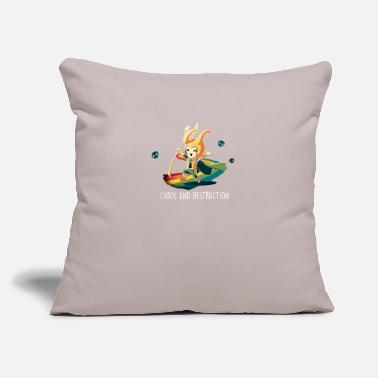 "Destruction CHAOS AND DESTRUCTION - Throw Pillow Cover 18"" x 18"""