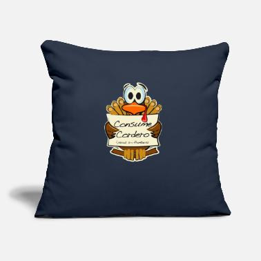 "Consumer Consume cordero - Throw Pillow Cover 18"" x 18"""