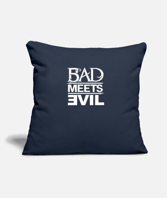 "Game Pillow Cases - The King Rapper Meets Evil - Throw Pillow Cover 18"" x 18"" navy"
