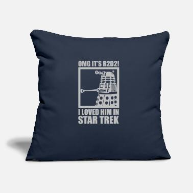 "Star Trek R2D2 Dalek Star Wars Dr Who Trek - Throw Pillow Cover 18"" x 18"""