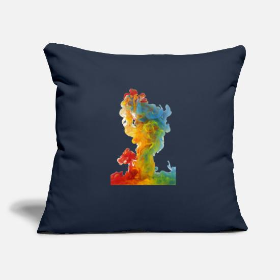 "Colourful Pillow Cases - colourful cloud - Throw Pillow Cover 18"" x 18"" navy"