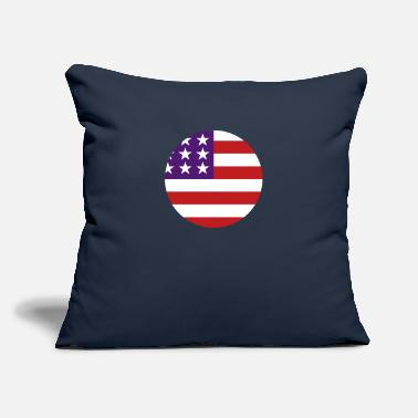 "United States - Throw Pillow Cover 18"" x 18"""