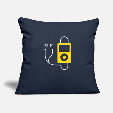 "Mp3 IPod / MP3 Player - Throw Pillow Cover 18"" x 18"""