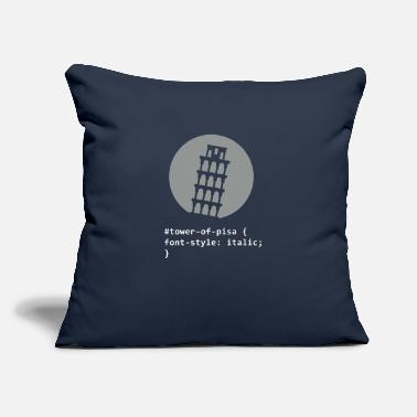 "Inclined Tower The Tower Of Pisa - Throw Pillow Cover 18"" x 18"""