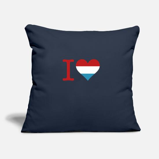 "Frank Pillow Cases - I Love Holland - Throw Pillow Cover 18"" x 18"" navy"