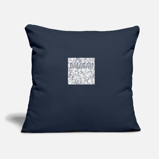 "Jewish Pillow Cases - Balagan Mess in Hebrew Slang Israel Jewish Jew - Throw Pillow Cover 18"" x 18"" navy"