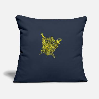 "Crest the crest - Throw Pillow Cover 18"" x 18"""