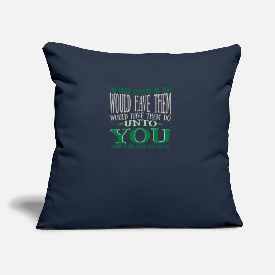 "Funny Pillow Cases - Arlington High School Anti Bullying - Throw Pillow Cover 18"" x 18"" navy"