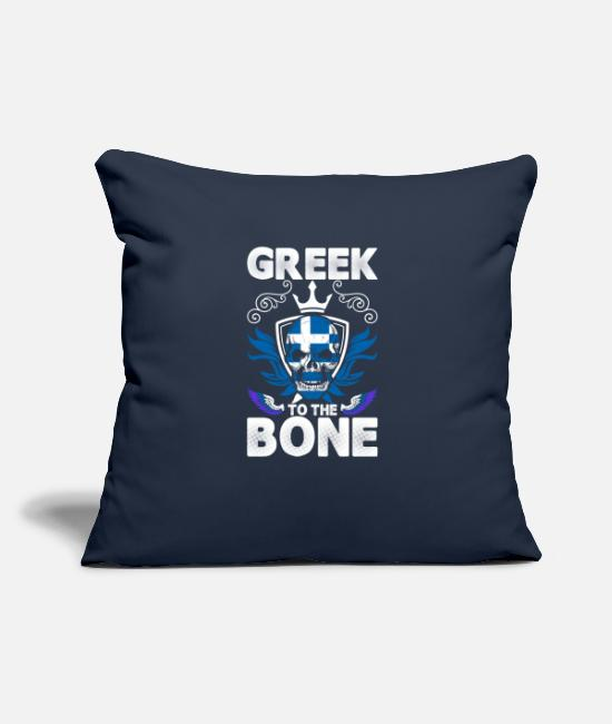"Love Pillow Cases - Greek To The Bone - Throw Pillow Cover 18"" x 18"" navy"