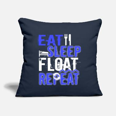 "Float Tank Float Therapy Eat Sleep Float Repeat - Throw Pillow Cover 18"" x 18"""