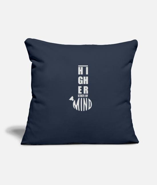 "Game Pillow Cases - Higher State of Mind - Throw Pillow Cover 18"" x 18"" navy"