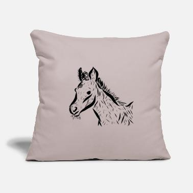 "Foal Foal - Throw Pillow Cover 18"" x 18"""