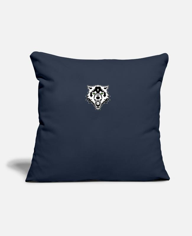 "Heart Pillow Cases - 5a5b88f614d8c4188e0b090f - Throw Pillow Cover 18"" x 18"" navy"