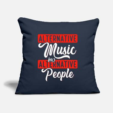 "Alternative Alternative Music for Alternative People - Throw Pillow Cover 18"" x 18"""