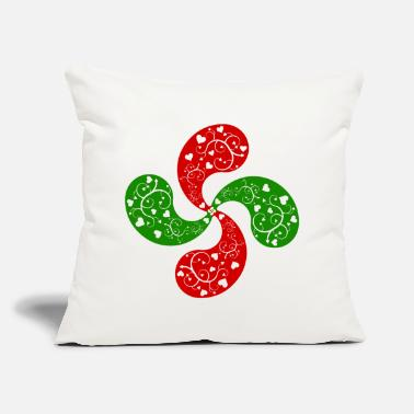 Basque hearts cross - Throw Pillow Cover