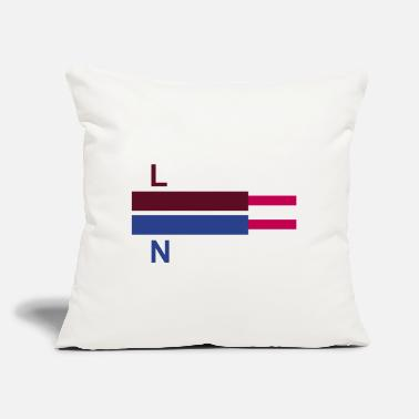 "Electrical Line electric cables LN - Throw Pillow Cover 18"" x 18"""