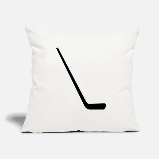 "Hockey Pillow Cases - ice hockey stick - Throw Pillow Cover 18"" x 18"" natural white"