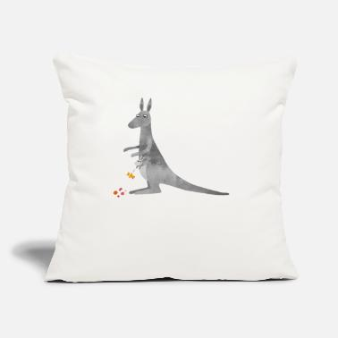 "Nicsquirrell Kangaroo Mother and Naughty Baby Joey - Throw Pillow Cover 18"" x 18"""