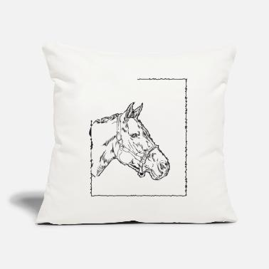 "Hor Hors - Throw Pillow Cover 18"" x 18"""