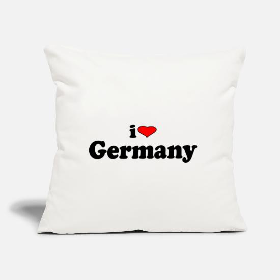 "Love Pillow Cases - I love Germany - Throw Pillow Cover 18"" x 18"" natural white"