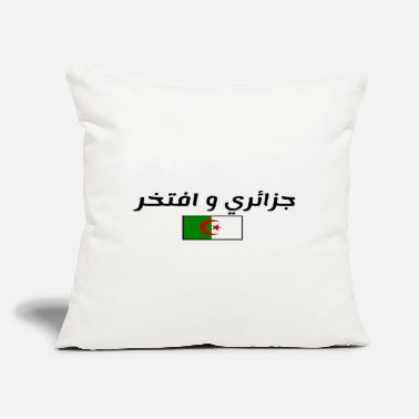 "Algerian and Proud - Throw Pillow Cover 18"" x 18"""