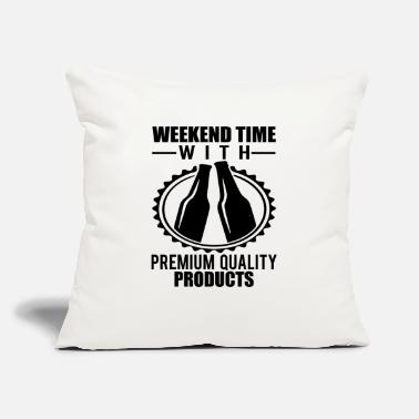 "Weekend weekend - Throw Pillow Cover 18"" x 18"""