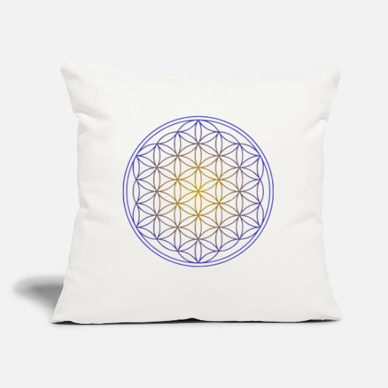 "Symbol  Pillow Cases - flower of life - Throw Pillow Cover 18"" x 18"" natural white"
