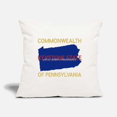 "Commonwealth Commonwealth of Pennsylvania - Throw Pillow Cover 18"" x 18"""