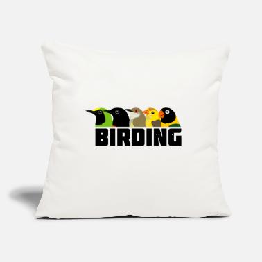 "Bird Birding Birds - Throw Pillow Cover 18"" x 18"""