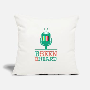 "Icon Be Seen Be Heard - Throw Pillow Cover 18"" x 18"""